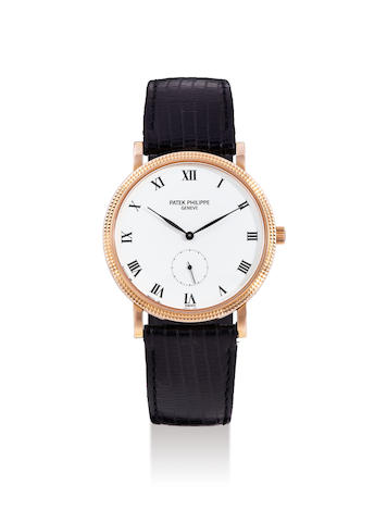 Patek Philippe. A Pink Gold Wristwatch, Ref. 3919R, With Extract from the Archives