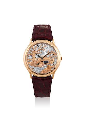 Audemars Piguet. A Pink Gold Automatic Wristwatch, C#30653