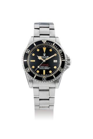Rolex. A  Double Red Sea Dweller (DRSD) Mark IV Wristwatch, Ref. 1665, Circa 1972