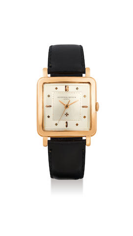 Vacheron Constantin. A Yellow Gold Square-shaped Wristwatch
