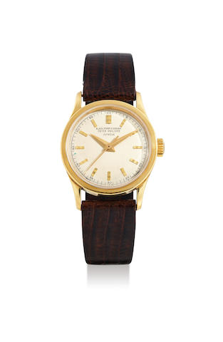 Patek Philippe. A Very Rare Yellow Gold Centre Seconds Wristwatch, Retailed by Black, Starr and Gorham