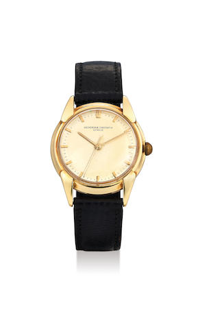 Vacheron Constantin. A Fine Yellow Gold Centre Seconds Wristwatch with Champagne Fancy Lugs