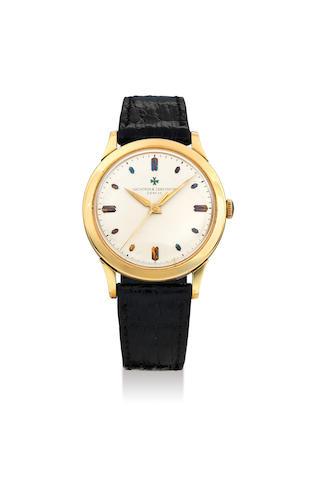 Vacheron Constantin. A Rare Yellow Gold Centre Seconds Wristwatch