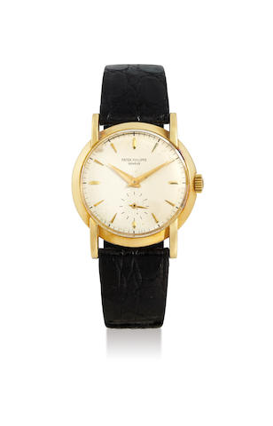 Patek Philippe. A 18K Yellow Gold Wristwatch with Extended Lugs