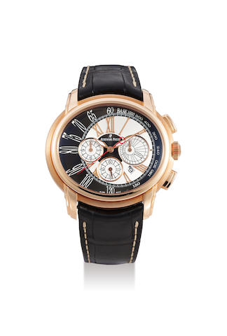 "Audemars Piguet. An 18K Pink Gold Automatic Chronograph Wristwatch With Date, Circa 2010 (With Cert)"", H89696"