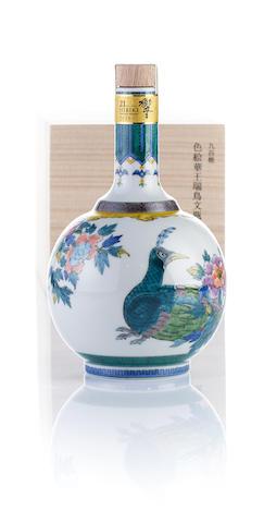 響 Hibiki-21 year old-九谷焼 色絵華王瑞鳥文瓶