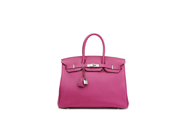 Hermès: Tosca Fjord Birkin 35, c. 2011, (Includes padlock, keys, cloche, rain jacket, dust bag and box)