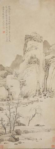 Hongren (1610-1664) Tranquil Village in Late Spring